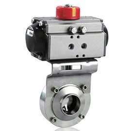 The pneumatic sanitary butterfly valve